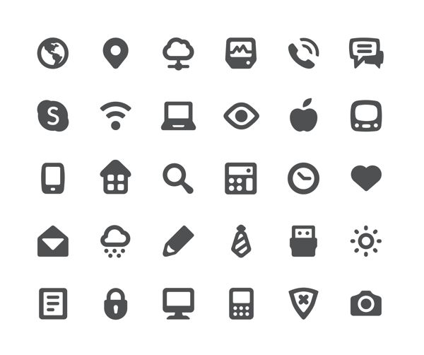 icons by creasence , via Behance