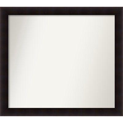 "Red Barrel Studio Rectangle Wood Wall Mirror Size: 40.63"" H x 45.63 W"" x 0.88"" D"