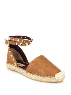 8f413e219fb4 Valentino - Rockstud Wrap-Around Strap Leather Thong Sandals - Saks ...