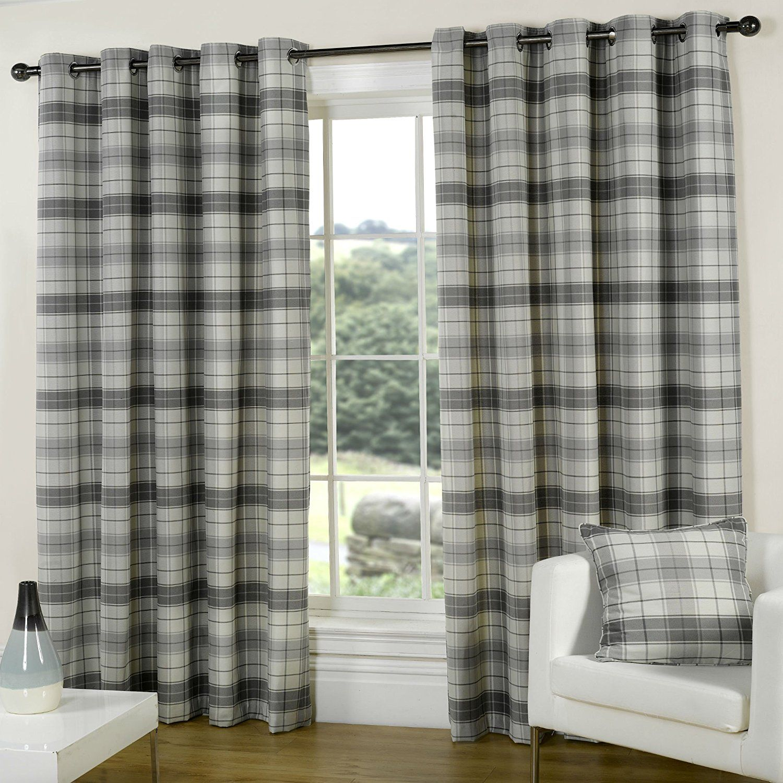 Terrific Tartan Curtains Provides Prestigious Look Tartan Curtains Ready Made Eyelet Curtains Curtains Uk