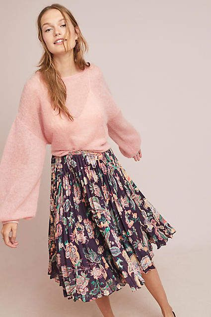 061d7ce00e Sunday in Brooklyn Benmore Pleated Floral Skirt #ad #AnthroFave  #AnthroRegistry Anthropologie #Anthropologie #musthave #styleinspiration  #ootd #newarrivals ...