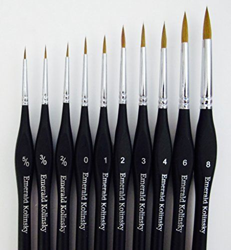 best professional siberian kolinsky sable detail paint brush value