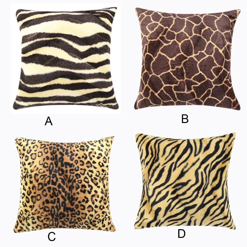 Visit to Buy] 20 Hot Animal Zebra Leopard Print Pillow Case Sofa ...