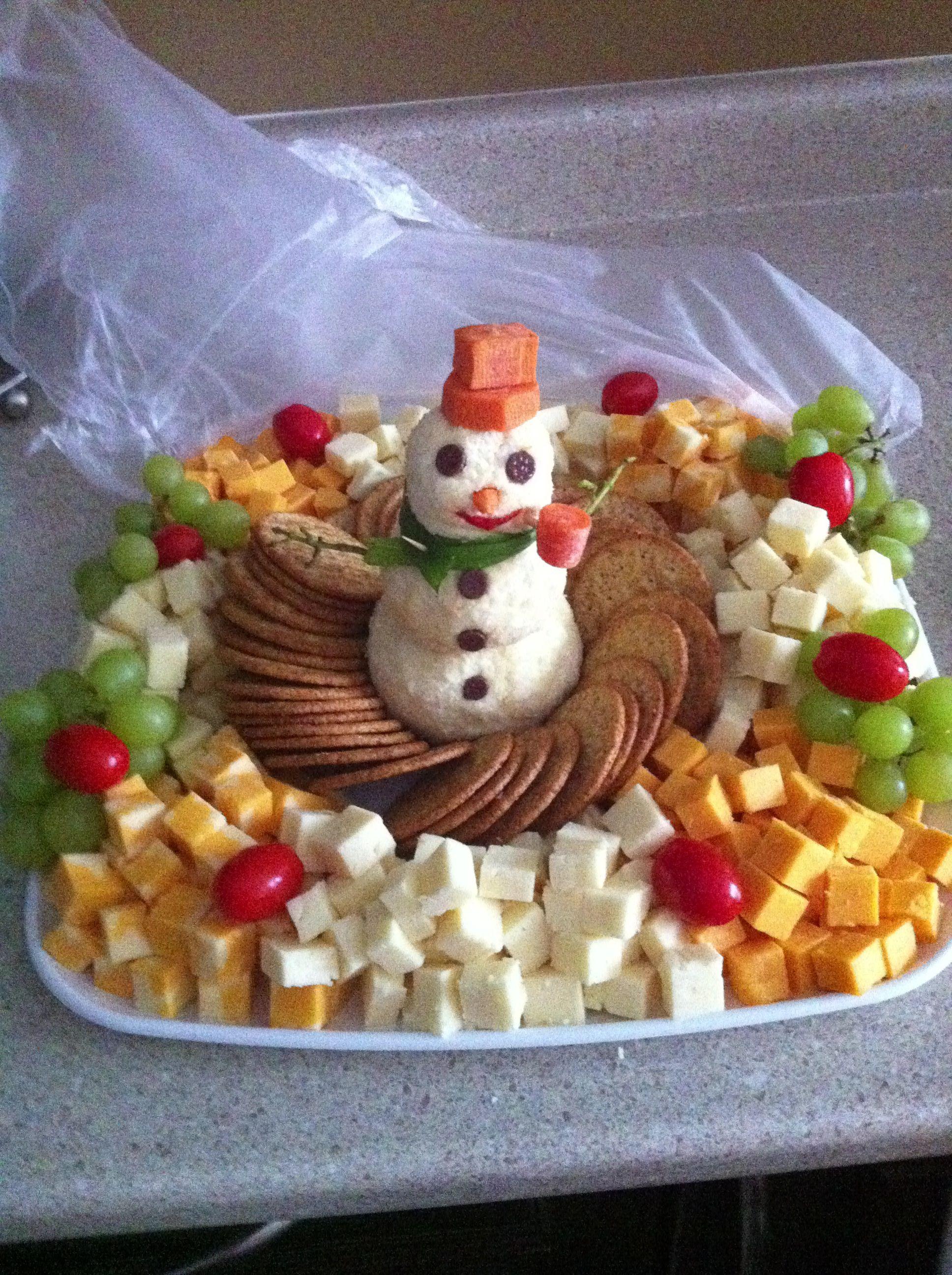 Snowman Cheese Ball Platter Christmas Food Christmas Party Food Xmas Food