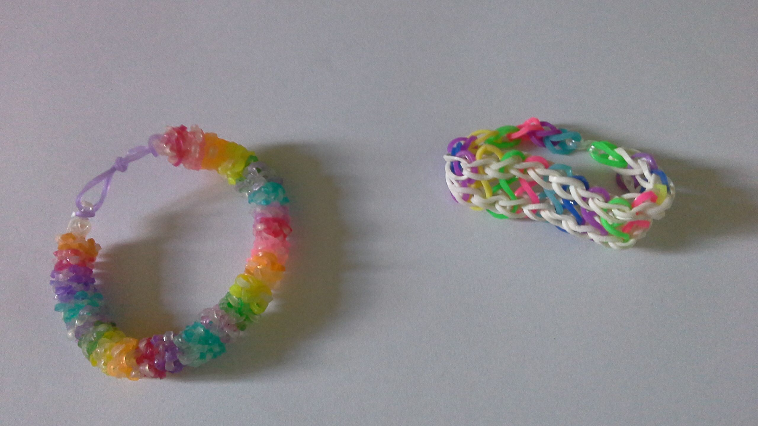 My very first attempt at making loom band bracelets for my daughter