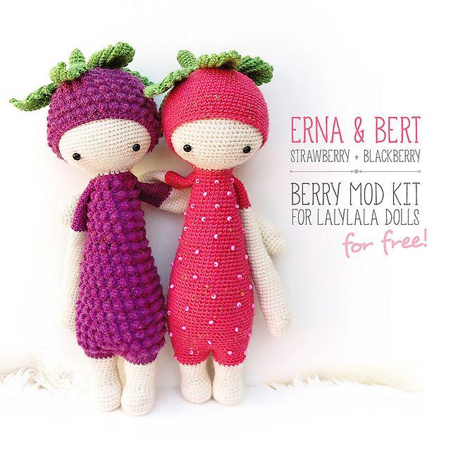 Ravelry: ERNA & BERT - berry mod kit for lalylala dolls pattern by ...