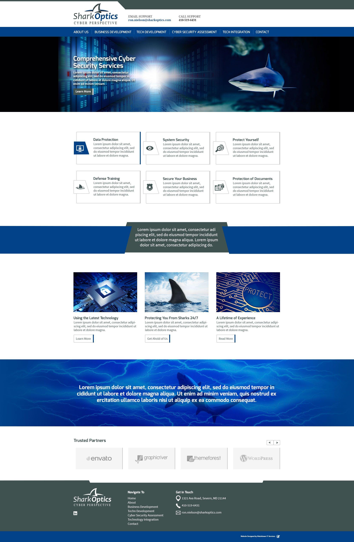 Information Technology Website Design Clean Web Inspiration Wordpress Template Shark