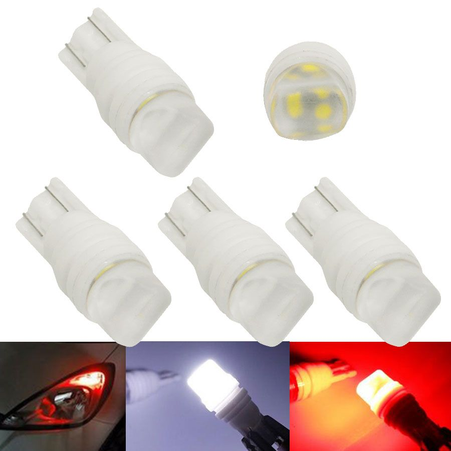 4pcs W5w T10 3d Heat Durable Ceramic Car Led Light White Red Blue Yellow Led 194 168 Wedge Side License Plate Light Lamp Dc 1 Car Led Lights Car Led Car Lights