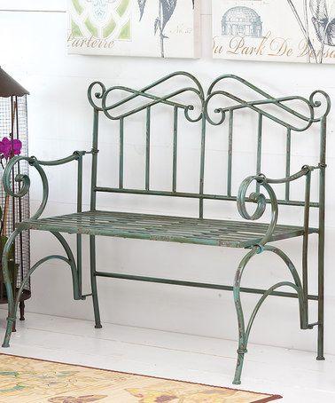 Another great find on #zulily! Antique Verdi Garden Bench #zulilyfinds