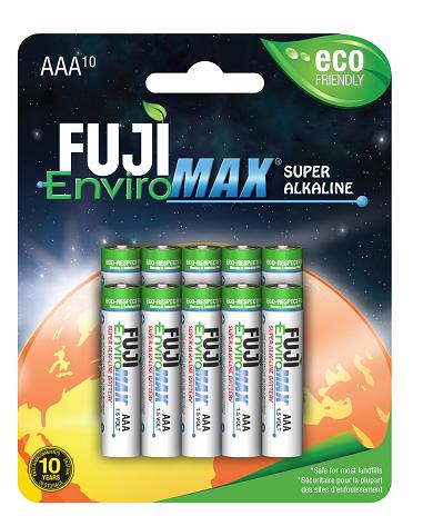 Fuji Enviromax Super Alkaline Aaa Pack Of 10 Eco Friendly Batteries Fuji Enviromax Fuji Alkaline Friendly