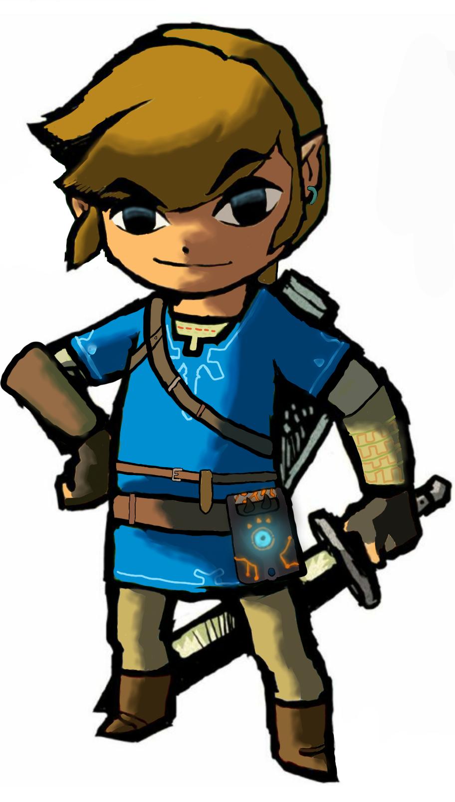 Toon Botw Link The Legend Of Zelda Breath Of The Wild Legend Of Zelda Breath Of The Wild Legend