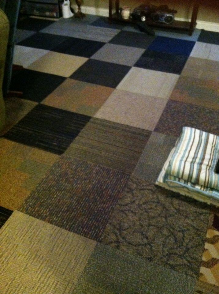 Dollar Tree Carpet Tiles For A Easy Floor Fix In Our Bonus Room
