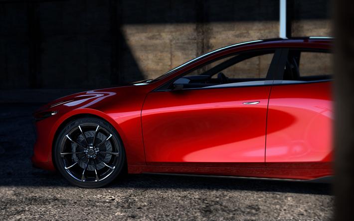 Descargar Fondos De Pantalla Mazda 3, 2019, 4k, Vista