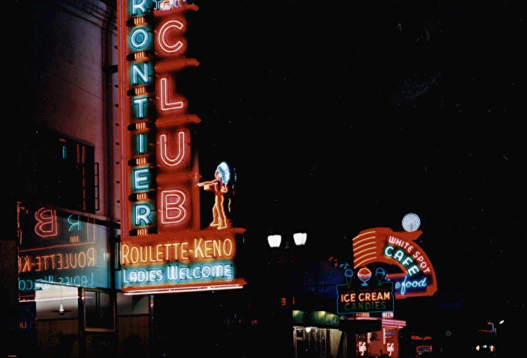 Neon lights on Freemont 1947.