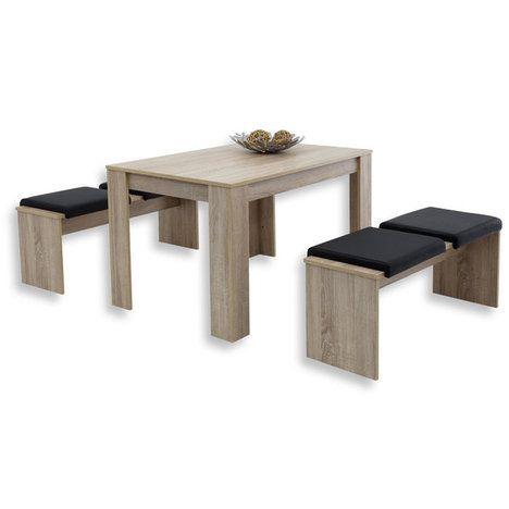 Tischgruppe Doris Sonoma Eiche 3 Teilig Tischgruppe Sonoma