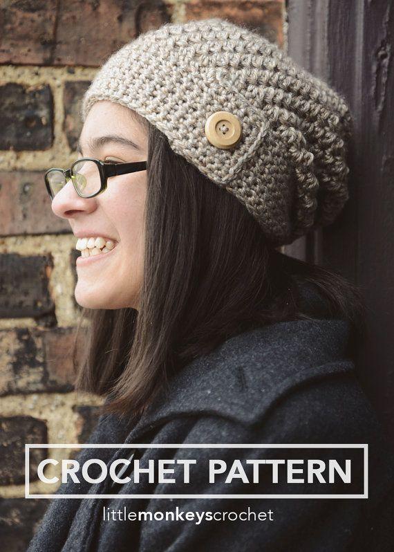 Slouch Hat & Cowl Set Crochet Pattern - 2 patterns in 1! (The Sandy ...