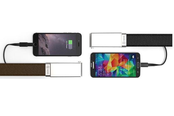 XOO Belt - http://www.gadget.com/2014/11/21/xoo-belt/ charger belt, device charger belt, external battery, power bank, power belt, wearable charger, xoo belt