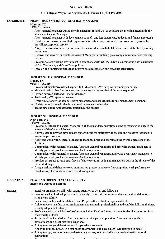Distribution center general manager resume