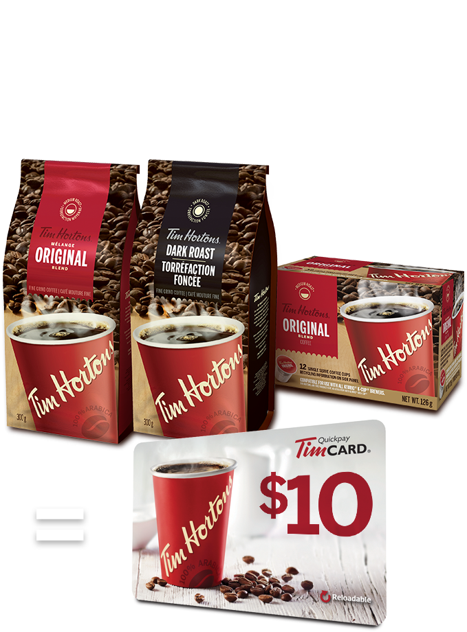 Win FREE TimHortons gift cards Tim hortons