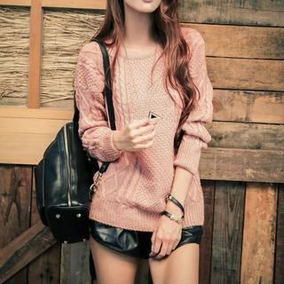 Buy 'Sweet Dolly – Cable-Knit Sweater' with Free International Shipping at YesStyle.com. Browse and shop for thousands of Asian fashion items from Taiwan and more!