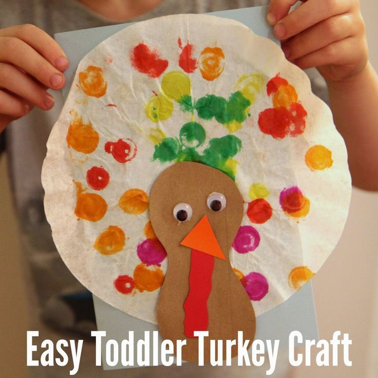 easy toddler turkey craft with coffee filters - Pictures Of Turkeys For Kids 2