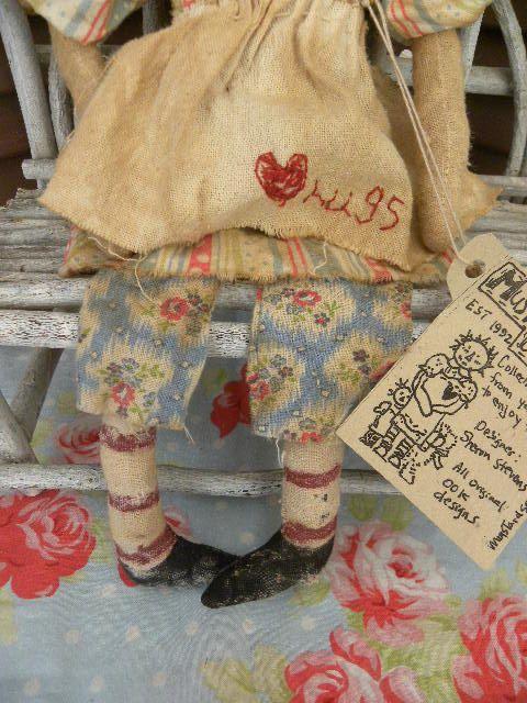 VERY Primitive Folk Art Raggedy Ann Antique Vintage by mustardseed