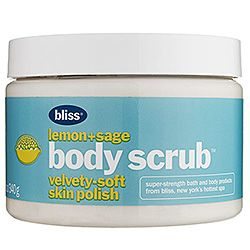 Bliss - Lemon   Sage Body Scrub  #sephora--Love this scrub...you will shine on your wedding day ladies.