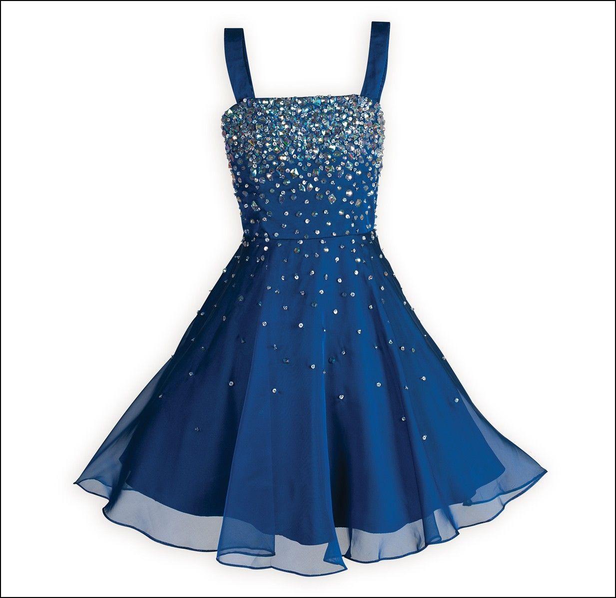 Fashion week Dresses girls 7-16 blue for woman