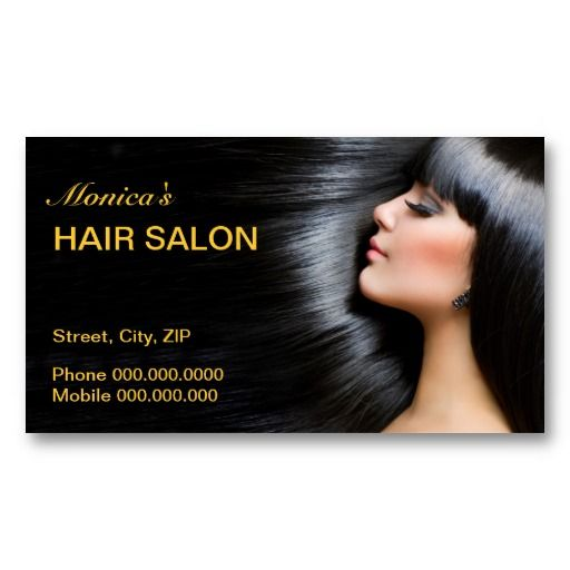 Hair Salon Business Card Hair Stylist Business Cards Templates - Hair salon business card template