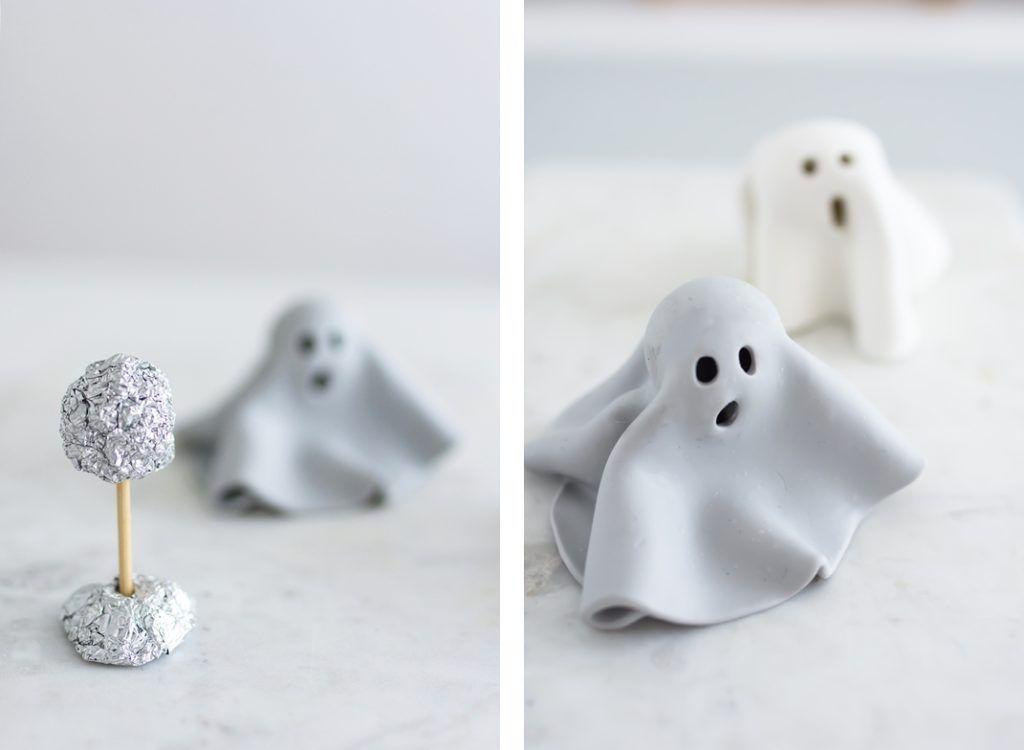 Basteln für Halloween: Leuchtende FIMO Geister – Sinnenrausch – Der kreative DIY Blog für Wohnsinnige und Selbermacher