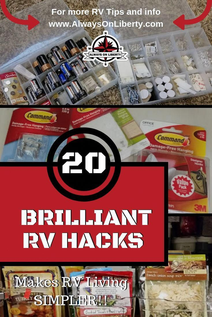 Try these RV hacks tips and tricks for your RV camper or boat RV Tips for any motorhome 5th wheel travel trailer popup camper yacht or boat Ideas or your RV bathroom kitc...