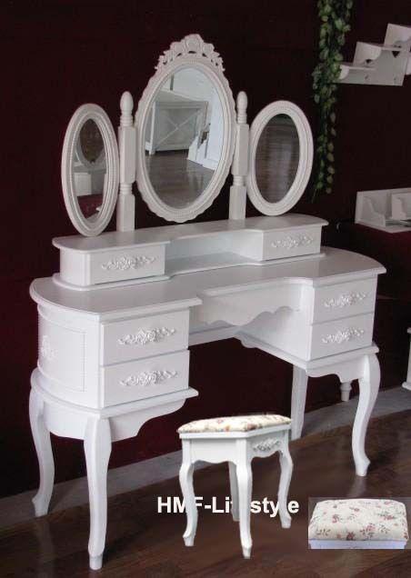 details zu spiegel mini kommode schminktisch aufsatz kosmetik frisierkommode schminkspiegel in. Black Bedroom Furniture Sets. Home Design Ideas