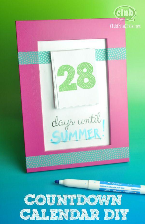 Calendario Countdown.Countdown To Summer Calendar Diy Clubchicacircle Kiddo