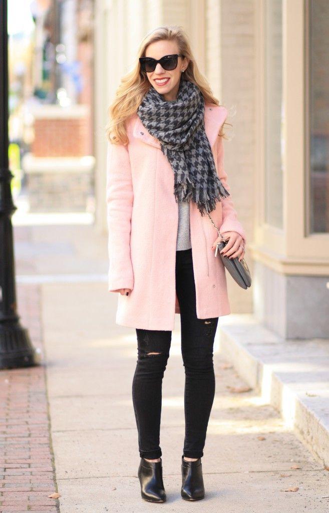 Blush & Black: blush pink cocoon coat, pastel winter coat, J. Crew ...