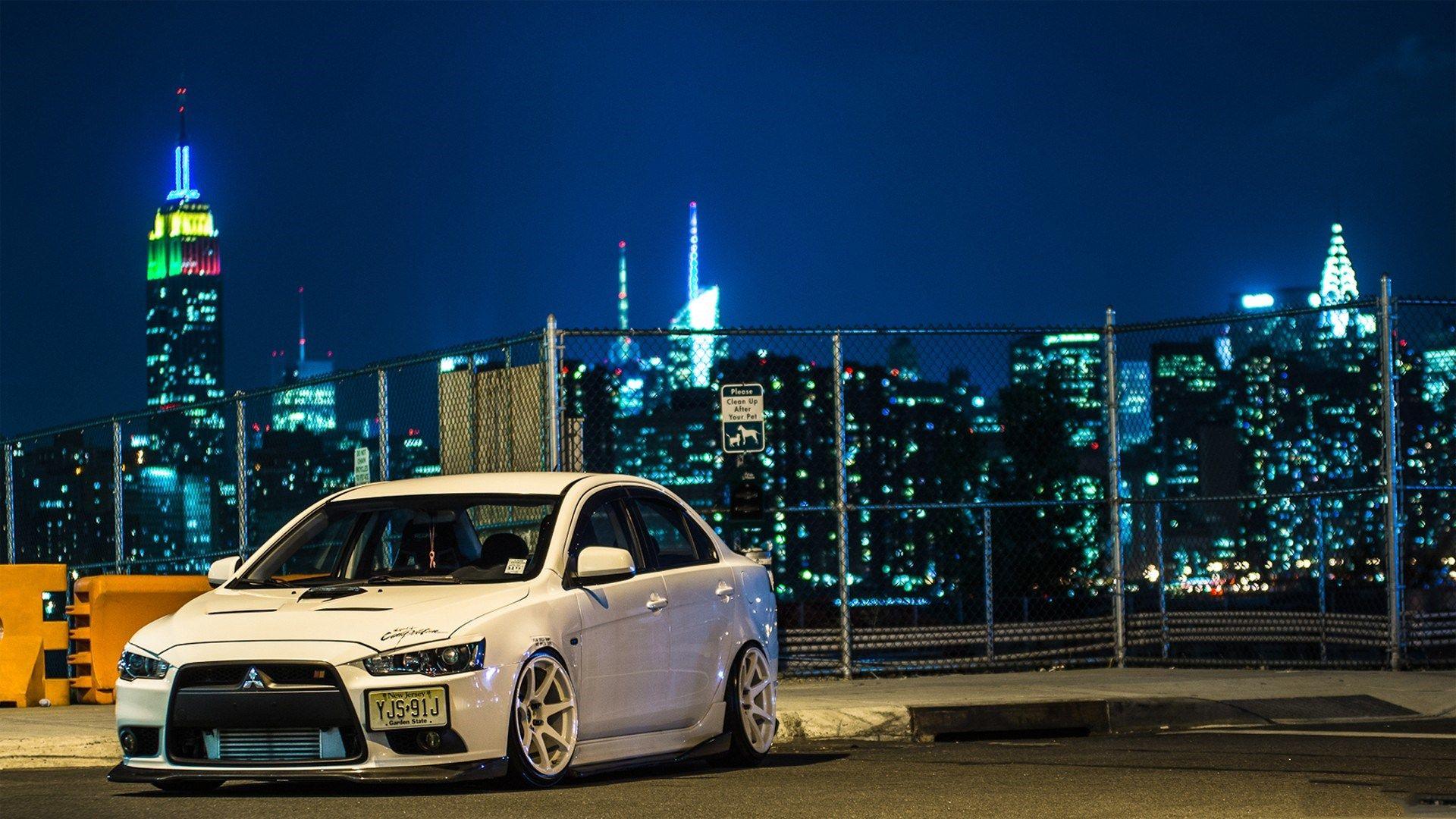 2013 Mitsubishi Lancer Evolution Hd Background Wallpaper Is
