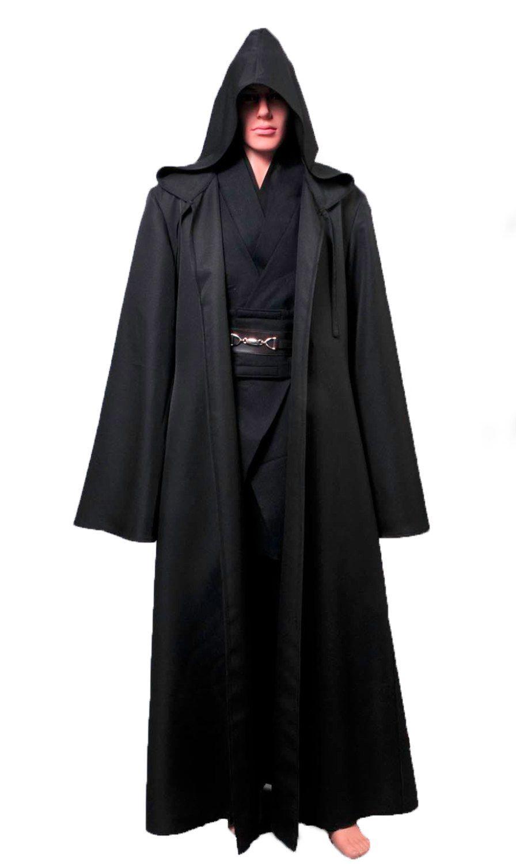 Star Wars Cloak Robe Sith Anakin Skywalker Darth Maul Cosplay Costume BlackCloak