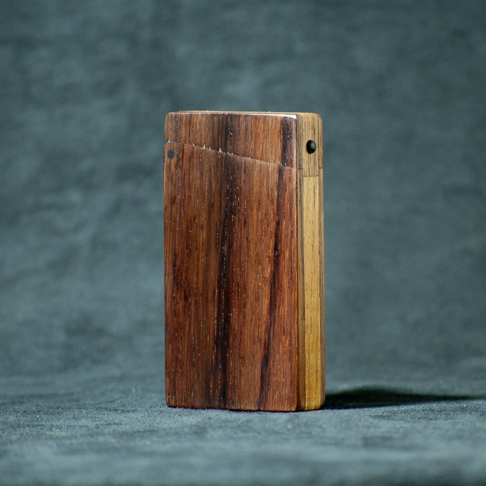 Mini Business Card Holder Moo Card Case Rosewood And Teak Etsy Mini Business Card Business Card Holders Moo Cards