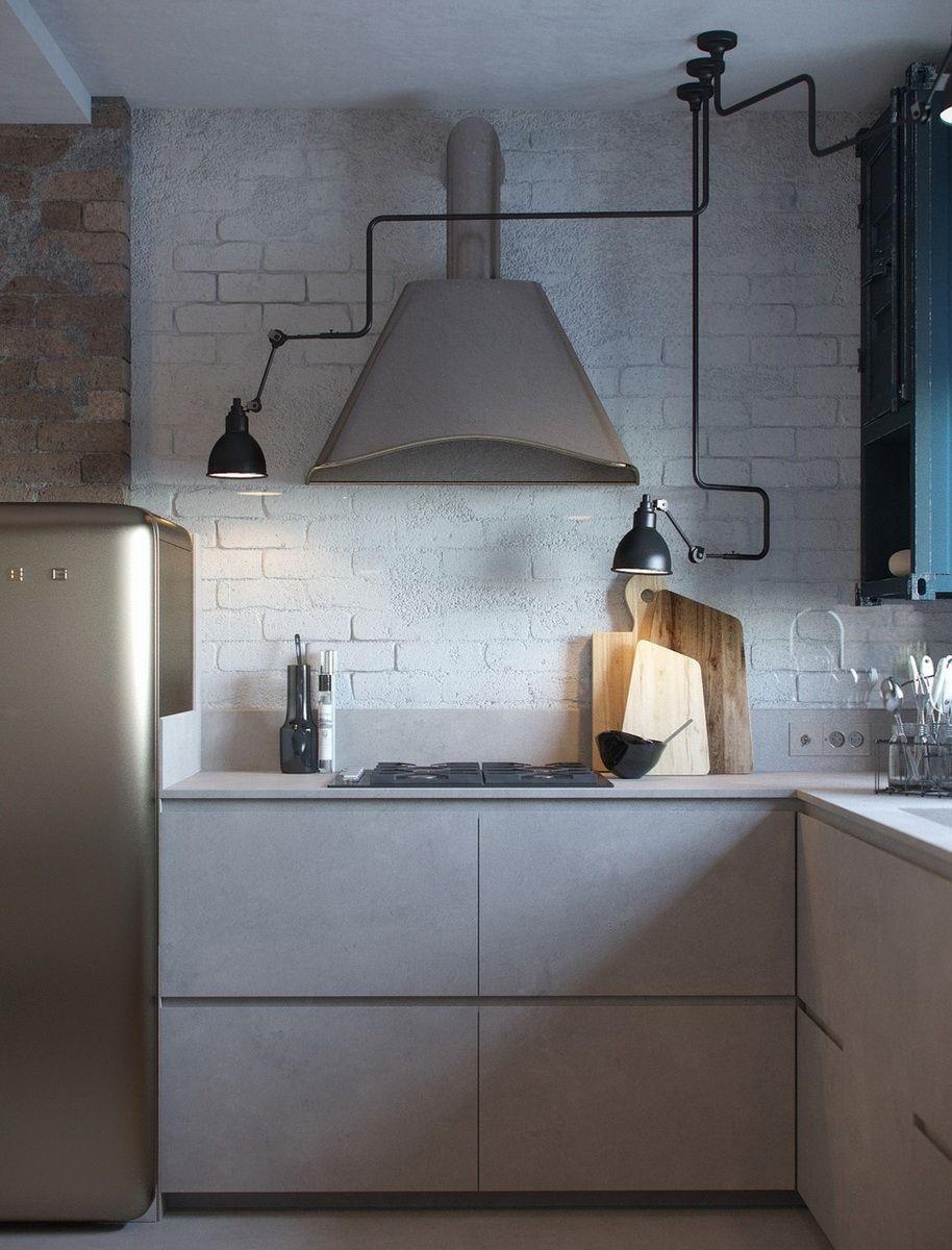 Visualization Loft in a small apartment kitchen