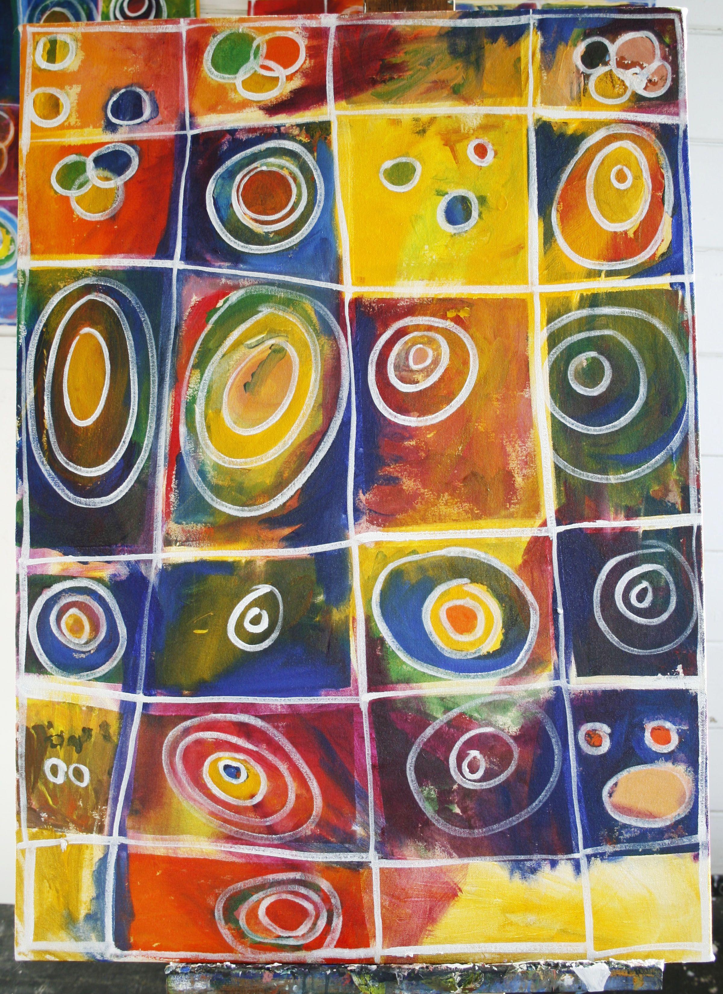 Gala Art 1st Grade Geometric Circle Paintings