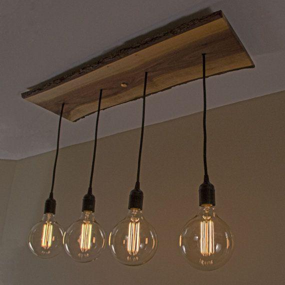 Rustic Wood Kitchen Island Ceiling Chandelier Lighting Fixture