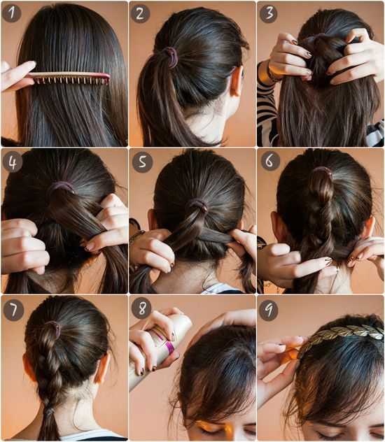2 Ways To Braid Your Hair With Hair Extensions For Thin Hair Extensions For Thin Hair Hairstyles For Thin Hair Hair Tutorial
