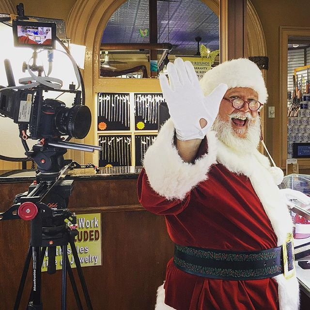 For all the ones wondering what Santa does in his off months! #christmasinjuly #bts #onlocation #onlocation #behindthescenes #santa #santaclause #commercial #nikon #nikond500 #d500 #konova #carlzeisslenses #ziesslens #cinelens #primelens #kamerar #switronix #productioncompany #filmingday #filming #moviemakingmagic #smallhd M3-2 #santaclause