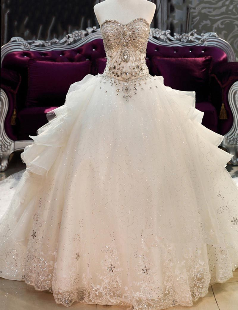 Don S Bridal Vestido De Noiva Robe Mariage Ball Gown Bridal Gown Withh Beadings And Crystal New Style W Ball Gown Wedding Dress Bridal Dresses Bridal Ball Gown [ 1040 x 800 Pixel ]
