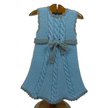 Vestido punto niña hecho a mano