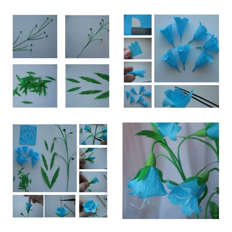How To Make Bluebell Flower Step By Step Diy Tutorial Instructions