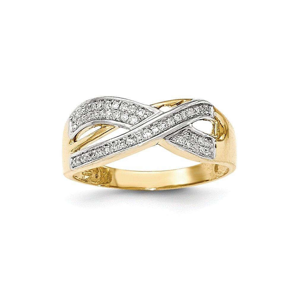 14K Yellow Gold Diamond Ring – Goldia.com