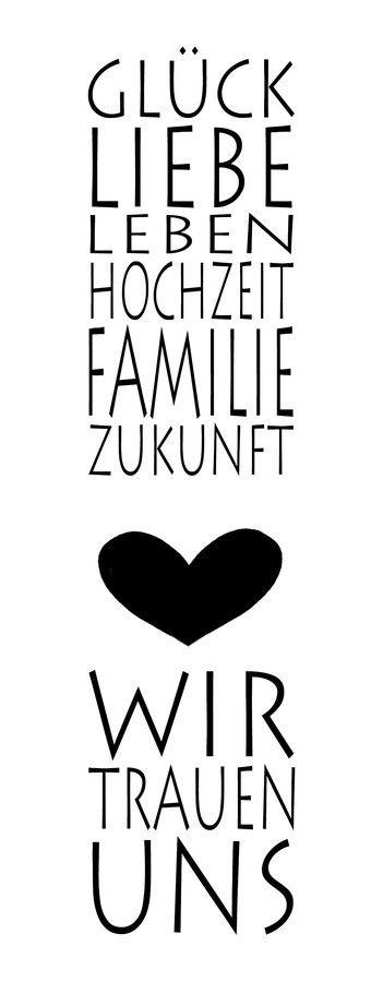 Stempel U201eWir Trauen Unsu201c Glück Liebe Leben Hochzeit Familie.