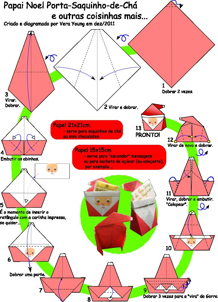 papai noel porta ch vera young origami pinterest origami rh pinterest com Orgami Christmas Holiday Origami