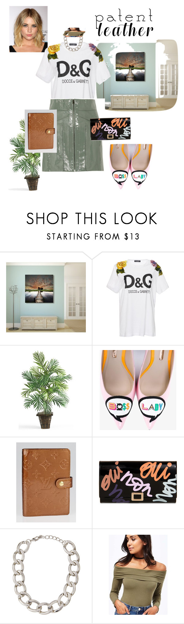 """Young summer CEO"" by meagan-kruz ❤ liked on Polyvore featuring Dolce&Gabbana, Alexander Wang, Sophia Webster, Louis Vuitton, Roger Vivier, Lydell NYC and Miss Selfridge"