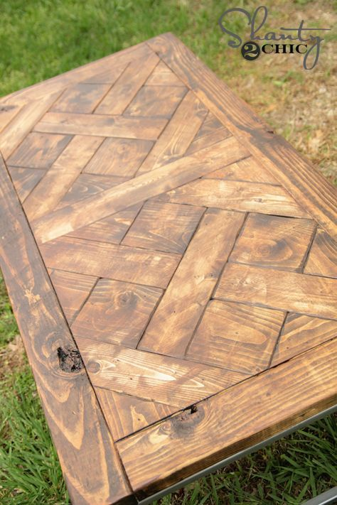 DIY Patterned Wood Tabletop: Jamison And The Shanty2Chic Girls Team Up To  Make This Great Table And Free Plans So You Can Make It Too!